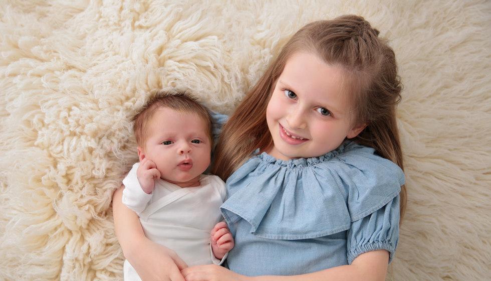 Baby Jude and his bid sister Esme