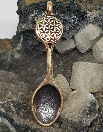 Seed of Life Bronze Spoon Necklace