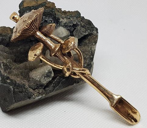 Big Mushroom Bronze Spoon