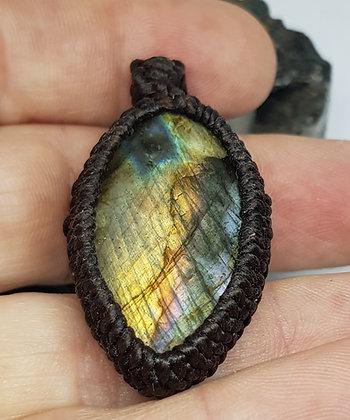 Rainbow Flash Labradorite Necklace