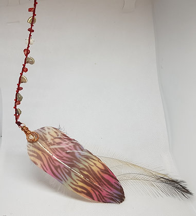 Hairwrap Rainbow and Emu Feather