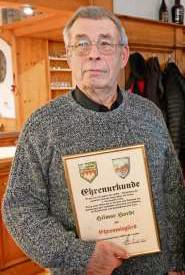 Ehrenmitglied Hilmar Hardt