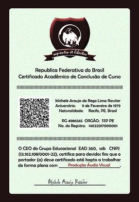 CERTIFICAÇÃO ESPECIAL ALUNOS ROSSITER M2