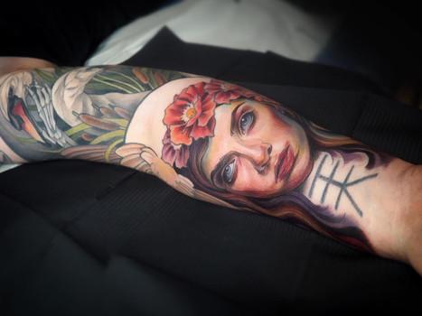 Lauri's sleeve, inner arm