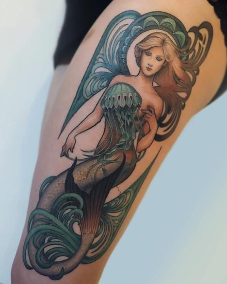 Art nouveau mermaid
