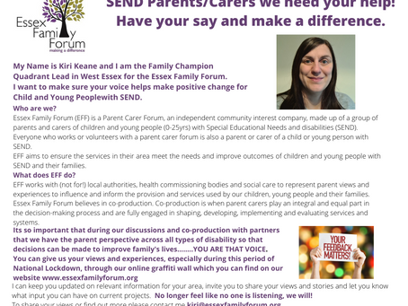 Please meet Kiri from Essex Family Forum.