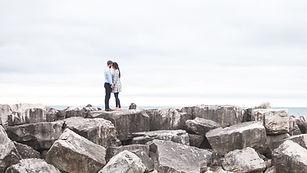Lovers on a Rocky Beach