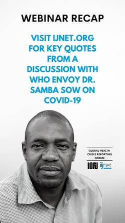 IJNet Promos for ICFJ's FB Forum's Webinars on COVID-19