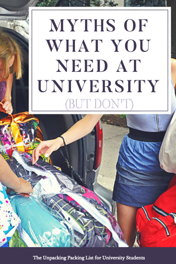 Myths of What You Need For University (But Don't)