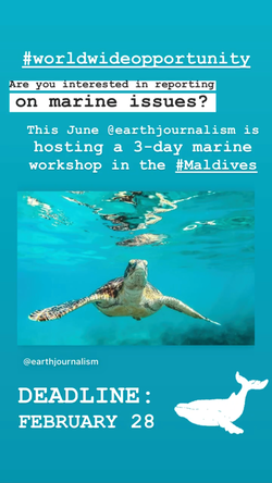 Earth Journalism Opportunity