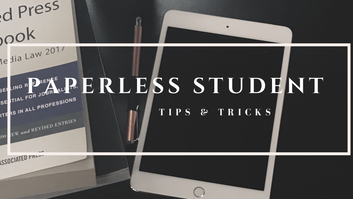 What does it mean to be a paperless student?