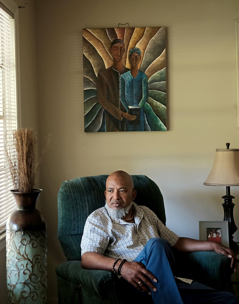 Cedric Sturdevant at home in Jackson.Credit: Ruddy Roye for The New York Times