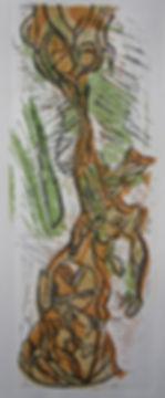 1.Self becoming Tree Linoprint 2019 42x1