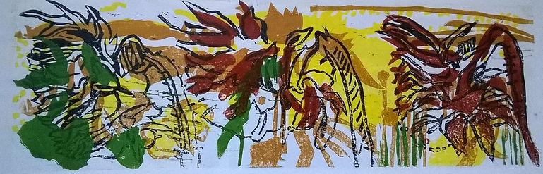 4.Three Yellow Sunflower Heads 2 Linopri