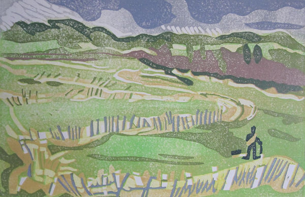 3.Towards Arundel Linoprint 2019 21x31.J