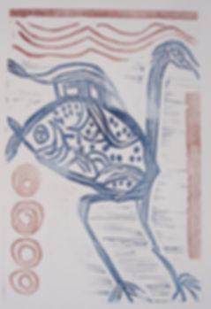 2.Mythical Bird Linoprint 2019 31x21.JPG