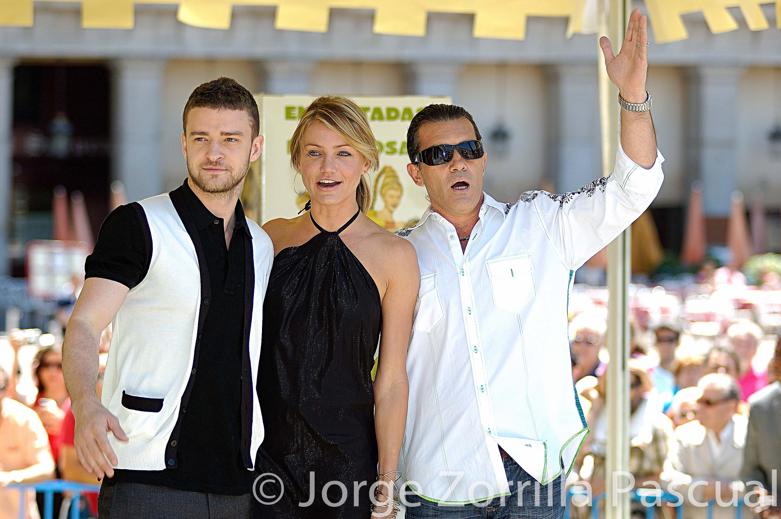 Fotografía Premiere Película Shrek Antonio Banderas Cameron Diaz y Cristian Timberlake Madrid © Jorg