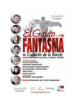 Fotografía Cartel de Teatro El Galán Fantasma © Jorge Zorrilla Fotógrafo Madrid