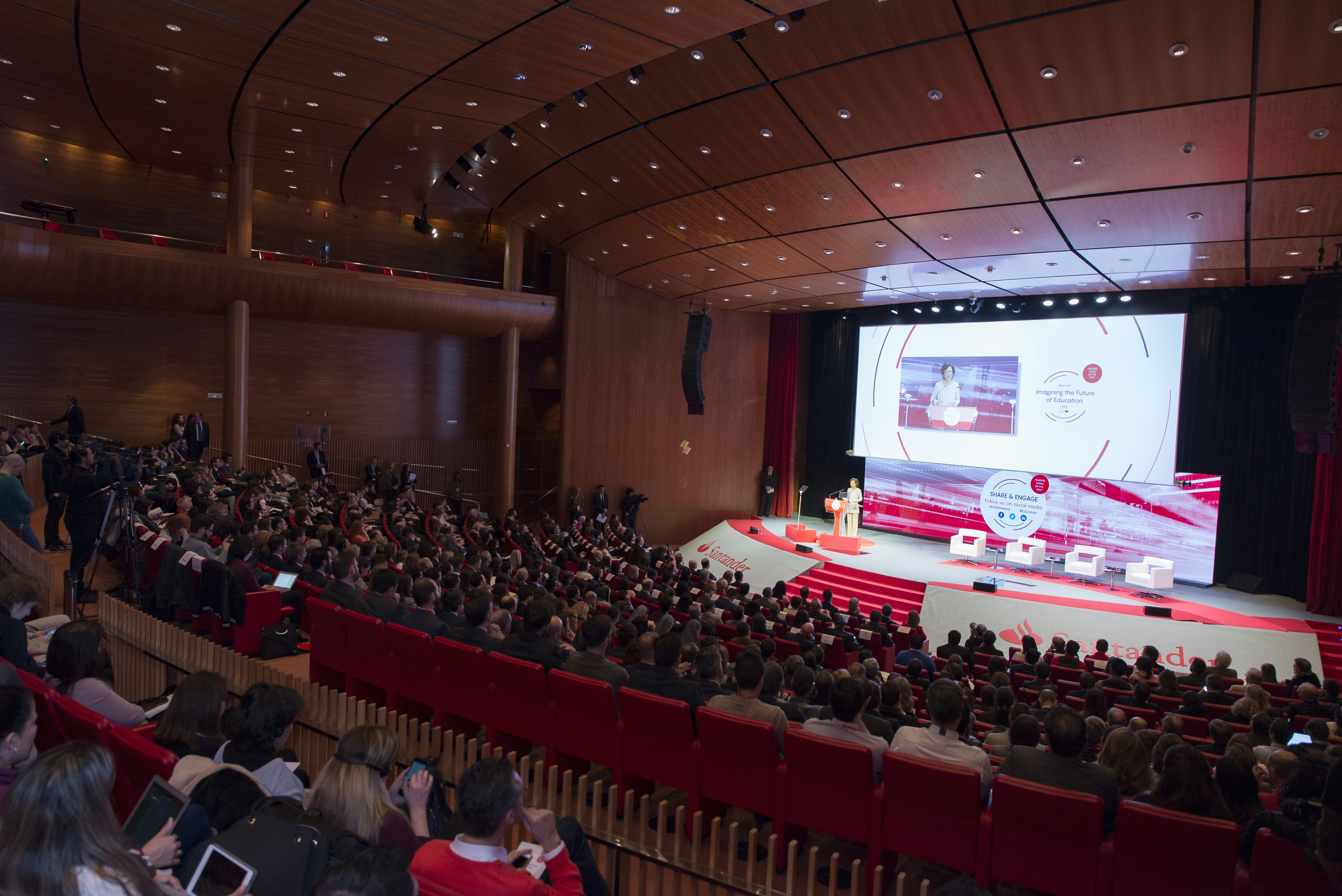 Fotografía  Acto Banco Santander Educación © Jorge Zorrilla Fotógrafo Madrid