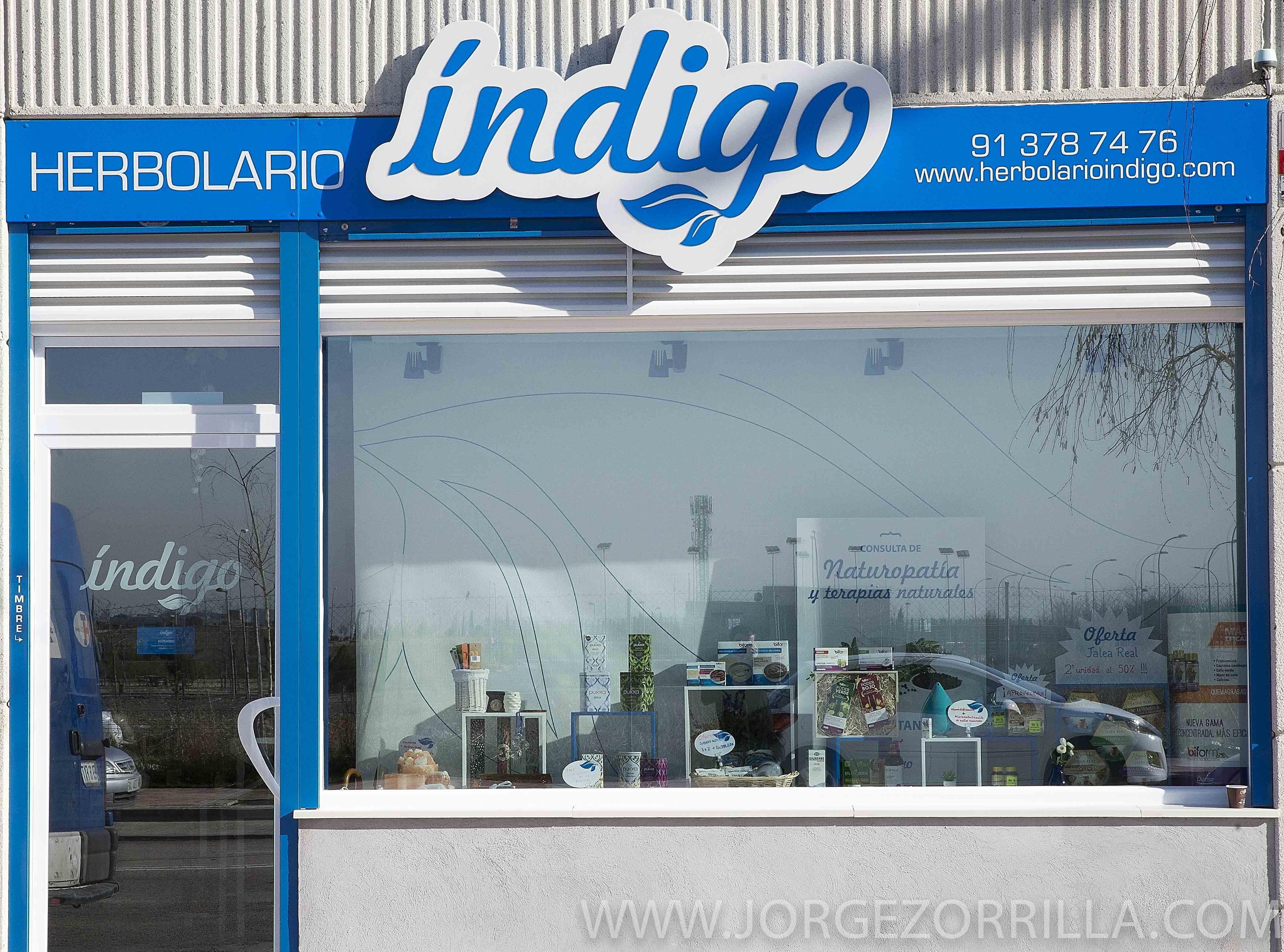 Fotografía Instalaciones Herbolario Indigo Madrid  © Jorge Zorrilla Fotógrafo Madrid