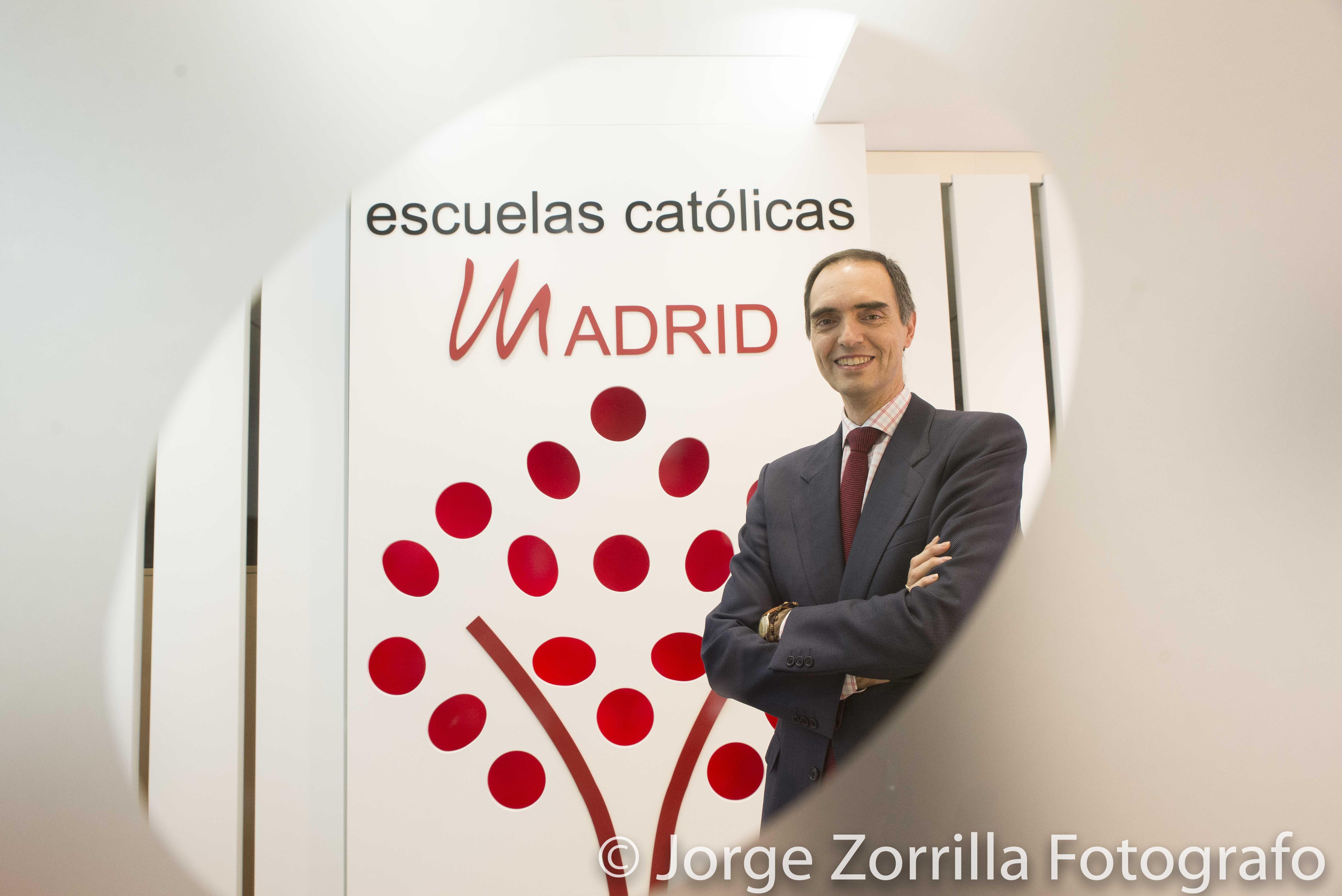 Fotografía de José Antonio Poveda, secretario regional de Escuelas Católicas de Madrid © Jorge Zorri