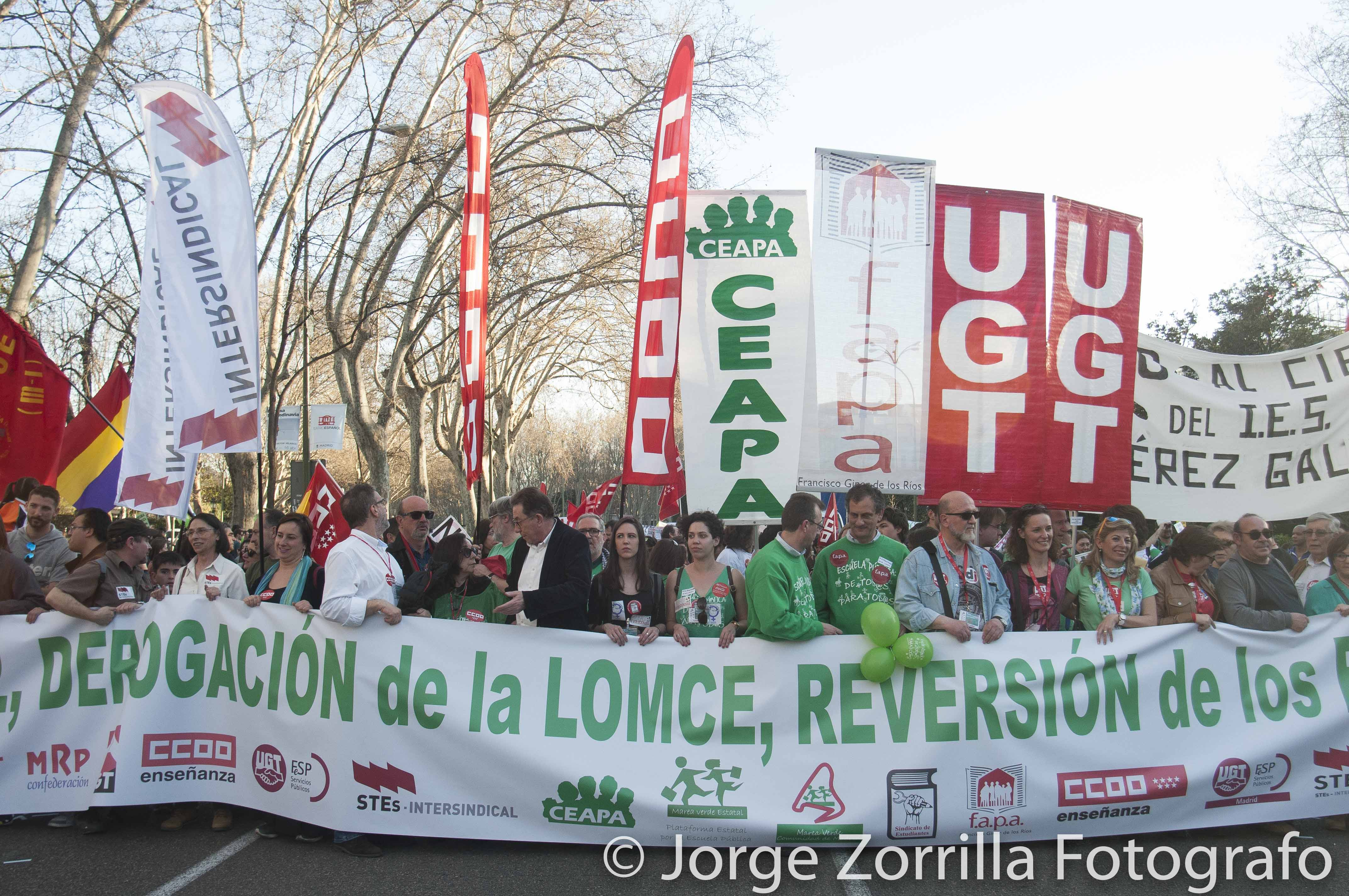 Fotografía Manifestación Educación Madrid © Jorge Zorrilla Fotógrafo Madrid