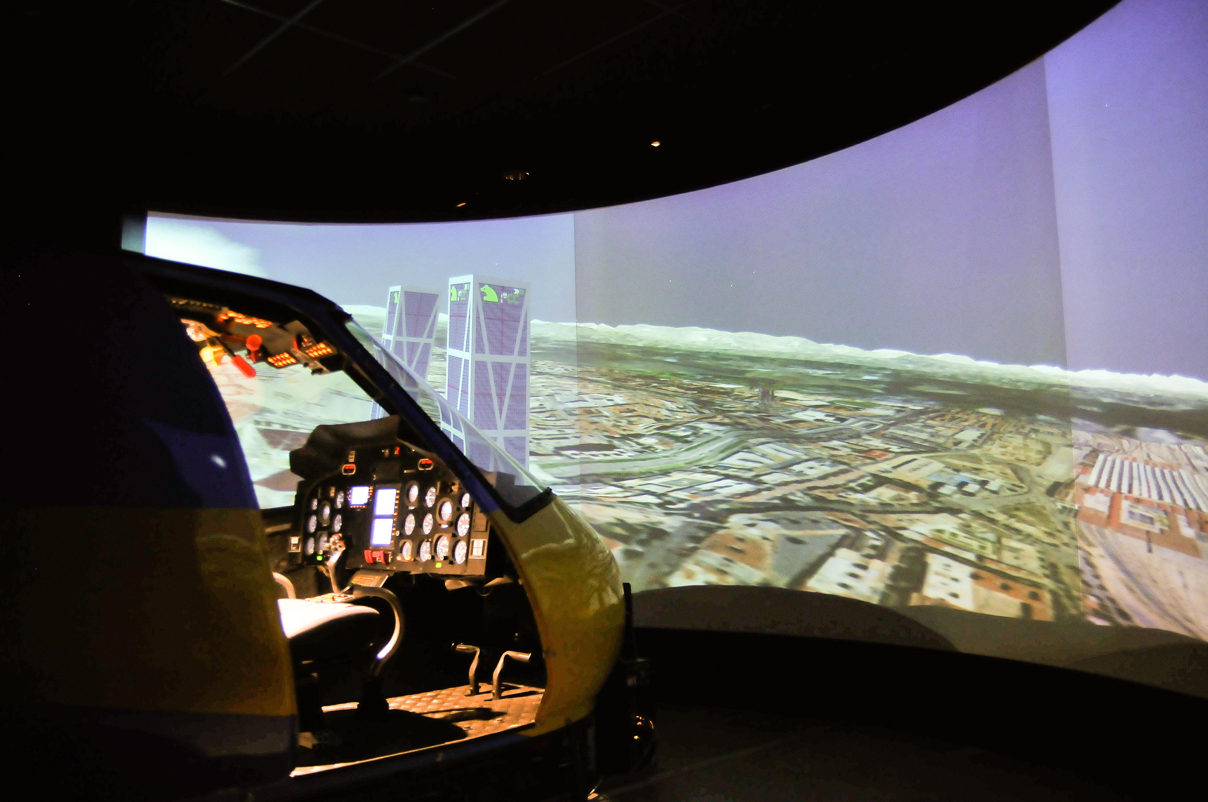 Fotografía Simulador Helicóptero Guardia Civil Trafico  © Jorge Zorrilla Fotógrafo Madrid