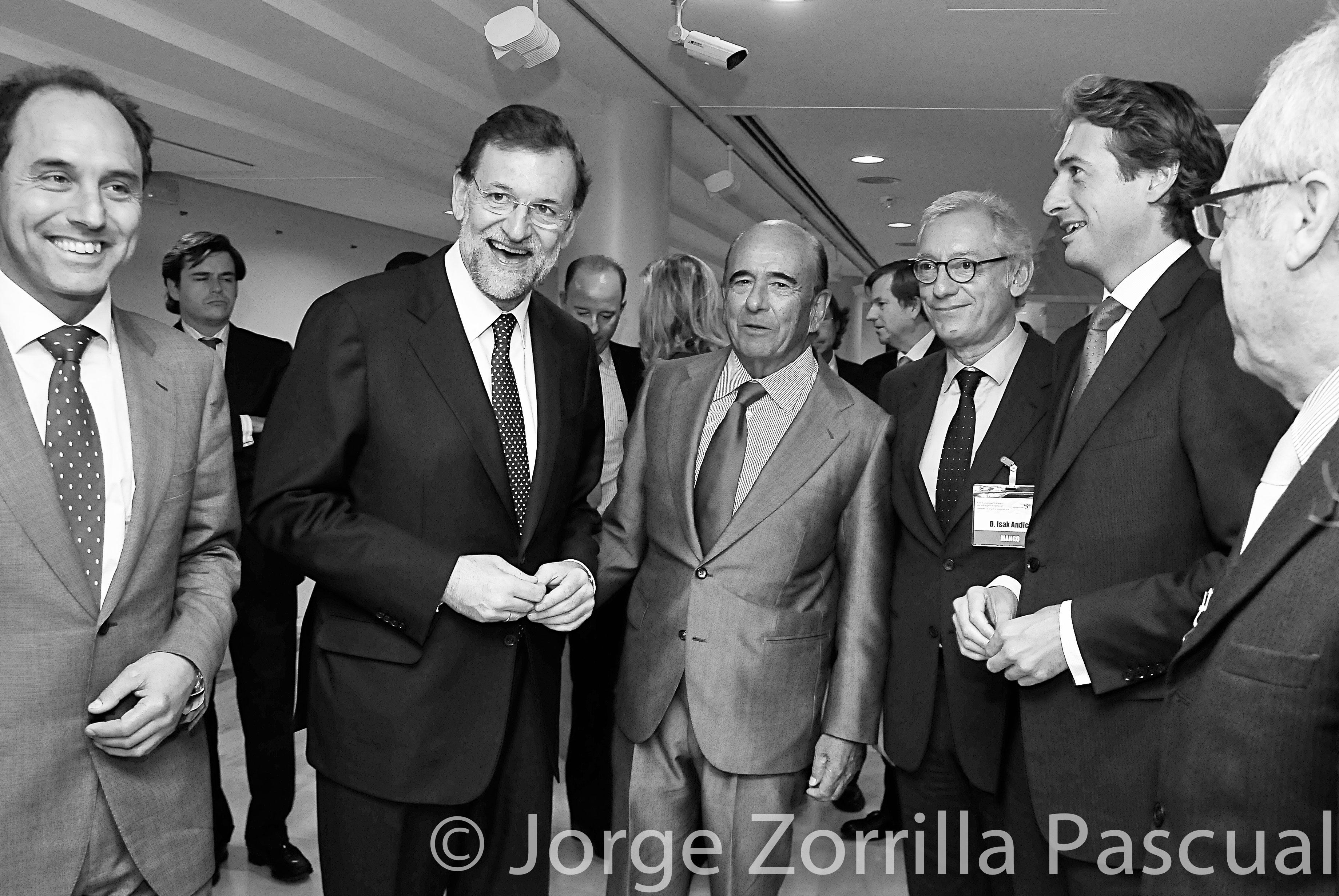 Fotografía Mariano Rajoy y Botin en Madrid © Jorge Zorrilla Fotógrafo Madrid