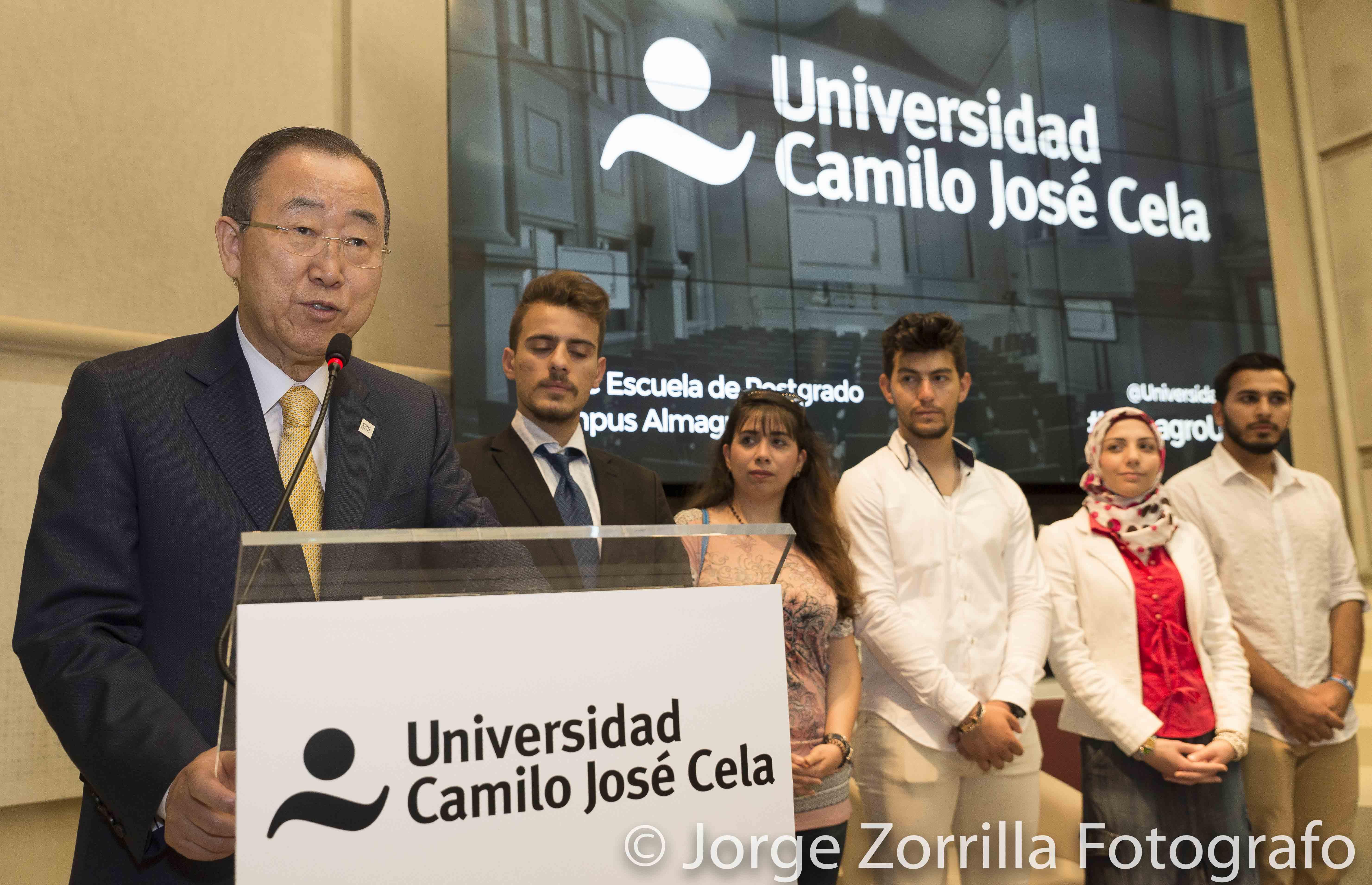 Fotografía de Ban Ki-Moon ex Secretario de las Naciones Unidas © Jorge Zorrilla Fotógrafo Madrid