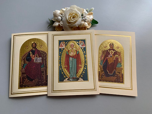3 Pack Gold Foil Icon Cards