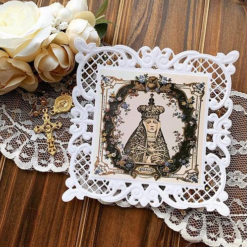 Addolorata Square Lace Holy Card