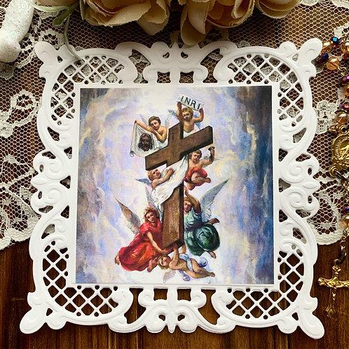 Exaultation of The Holy Cross holy card