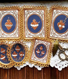 Royal Blue/Gold Holy Family Detentes