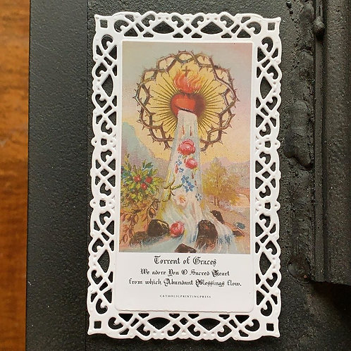 Torrent of Graces Lace Holy Card
