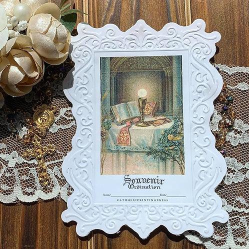 Souvenir Ordination Paper lace holy card