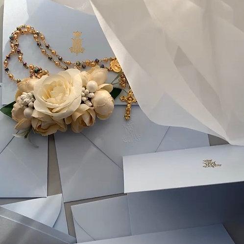 Auspice Maria Gold Foil Letterpress Stationery