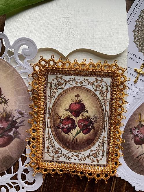 Gold/Burgundy Holy Family Detente