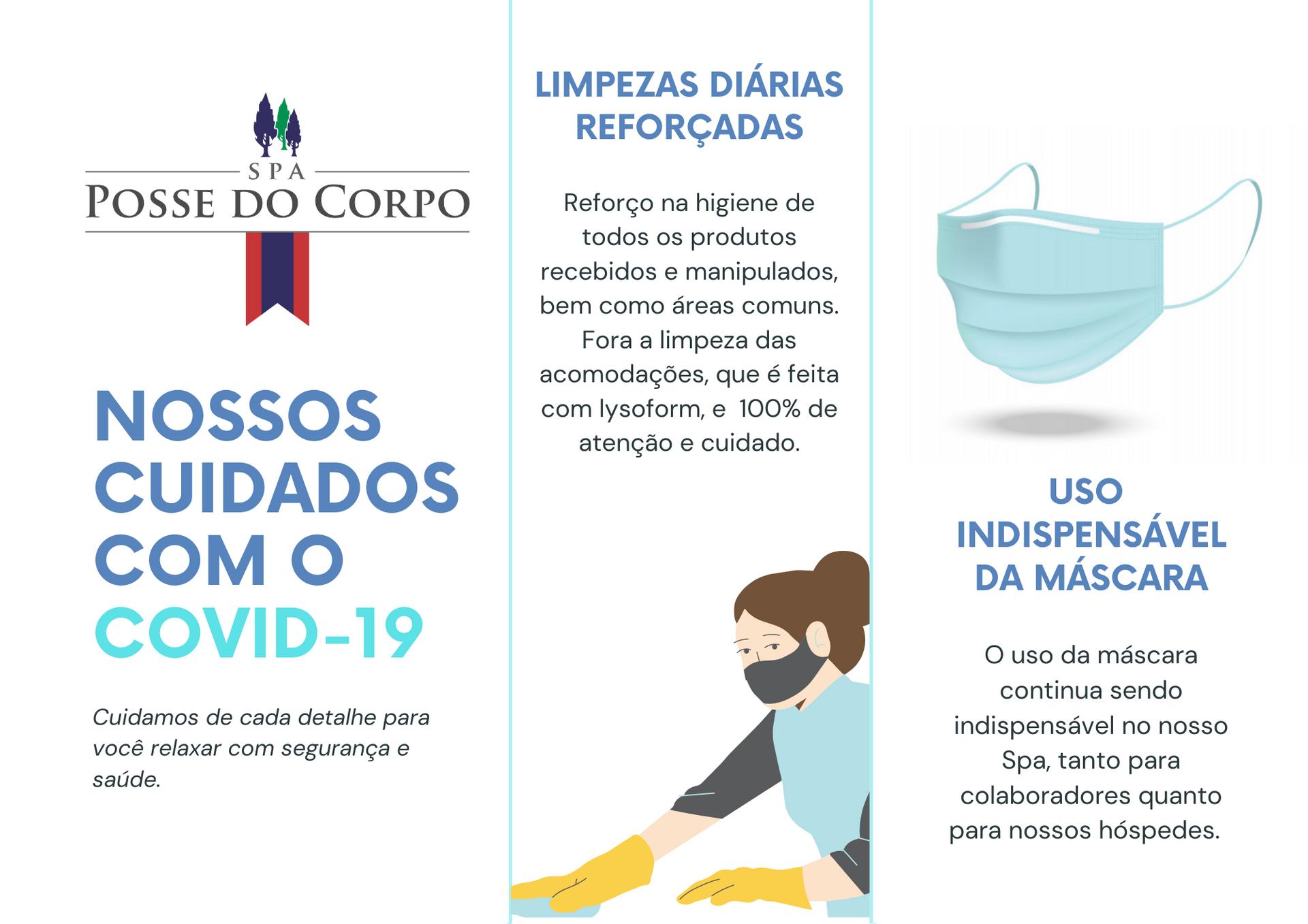 NOSSOS CUIDADOS COM A COVID