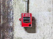 Fire alarm push button equipment in old