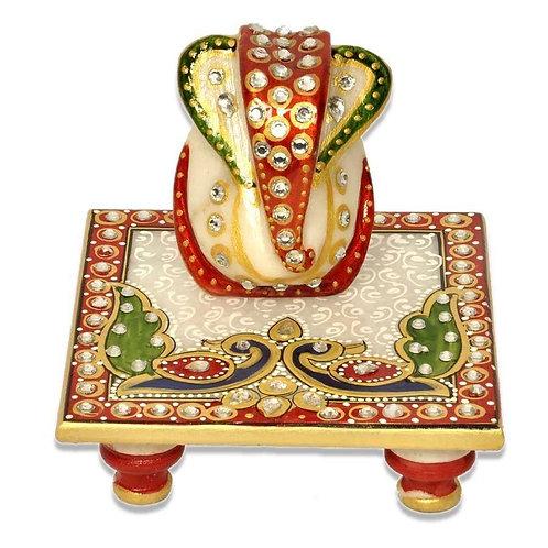 Ganesha with Chowki