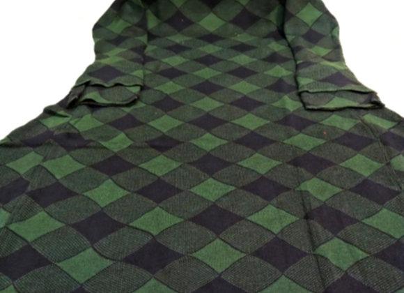 Woolen Green Black Long Frock