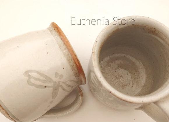 Hand-Glazed Studio Pottery Cups (Set of2)