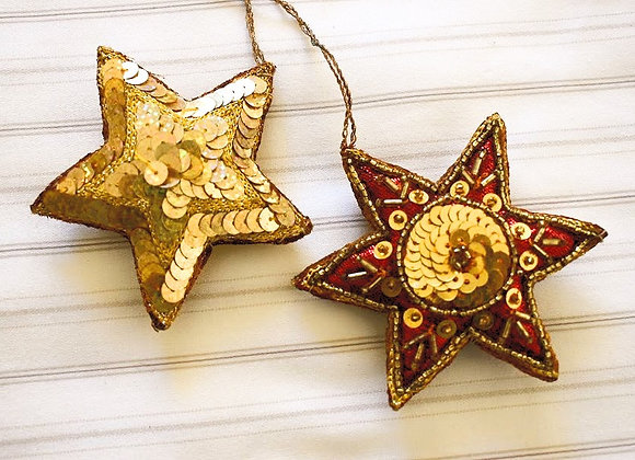 Star Christmas Hangings Pair