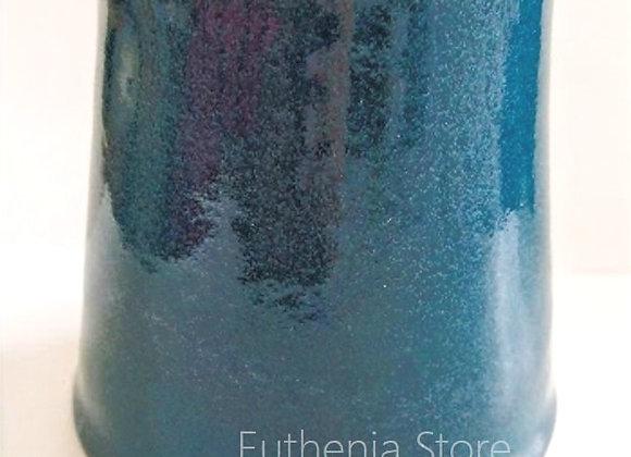 Blue Handmade Ceramic Pottery Milk Jar