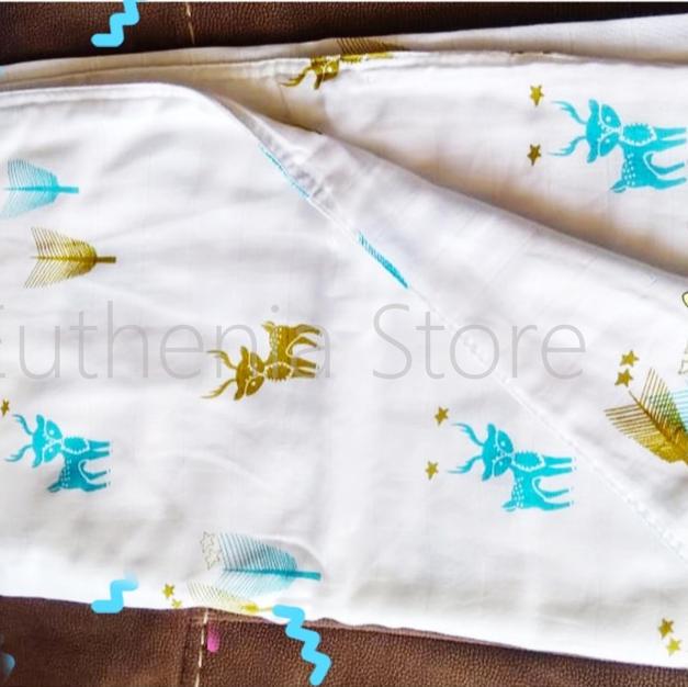 Deer Organic Cotton Baby Blanket