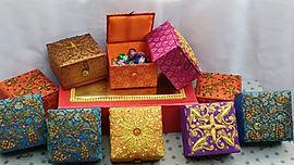 Zardozi work gift boxes