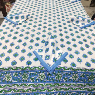 6 Seater Hand-block Table Cover