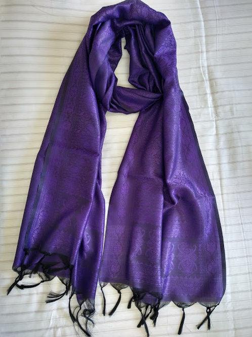 Purple Faux Silk Stole