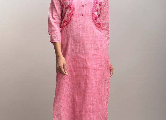 Handloom Cotton Kurta with pocket