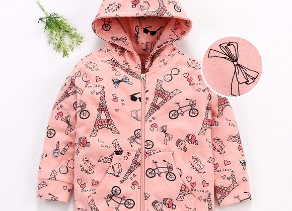 Hoodie Peach Jacket